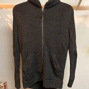 Gray wool Lululemon sweater